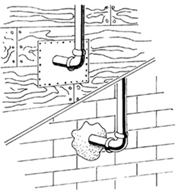 Figure 4 Seal Gaps Or Holes Where Pipes Wires Or Other
